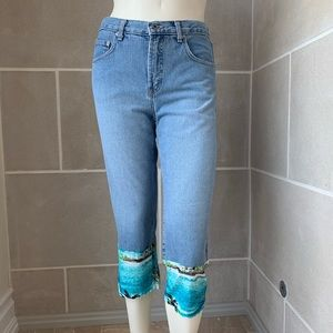 Agolde 'Ria' Cropped Contrast Jeans